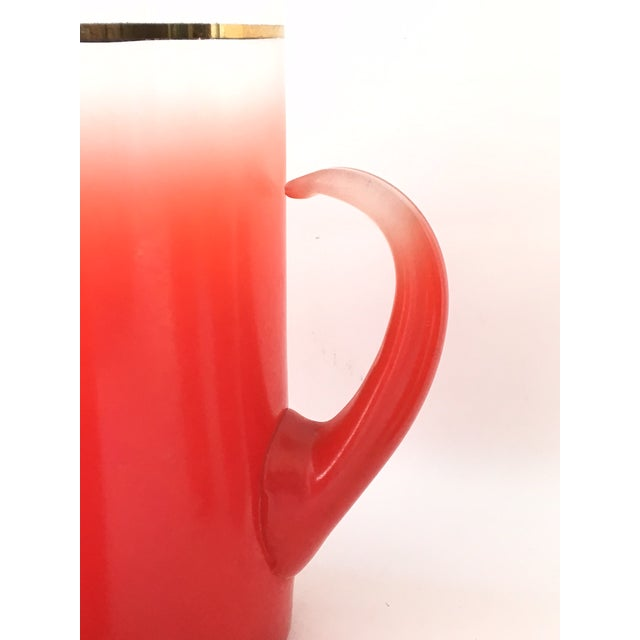 Blendo Glass Pitcher Set With 5 Tom Collins Glasses in Rare Red - Image 4 of 7