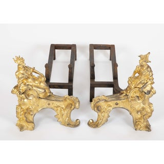 Louis XV Dore Bronze Chenets - a Pair Preview