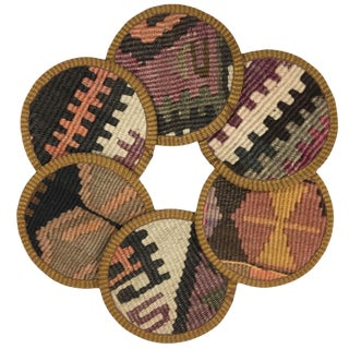 Kilim Coasters Set of 6 | Kilitçiler For Sale