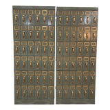 Image of Mid 20th Century Vintage Industrial Filing Cabinets 36 Drawers-a Pair For Sale