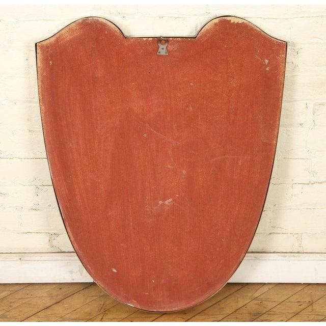 Gio Ponti Mid 20th Century Gio Ponti Shield Mirror For Sale - Image 4 of 5