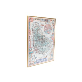 Framed Map of Barbados Preview