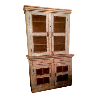 Antique 19th C Painted Cupboard For Sale