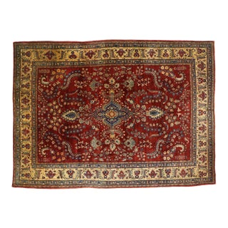 Antique Persian Sarouk Mohajeran Rug With Jacobean Style - 08'10 X 12'00 For Sale