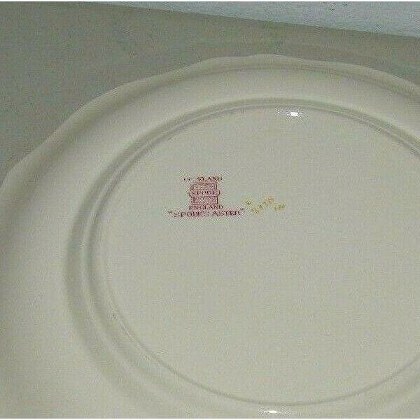Spode Vintage Spode Aster Red Dinner Plate Copeland For Sale - Image 4 of 5