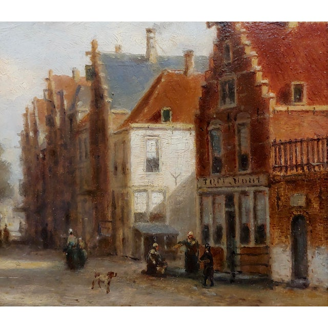 Johannes Frederick II Hulk -19th C. Early Market Day in Amsterdam-Oil Panting For Sale - Image 4 of 11