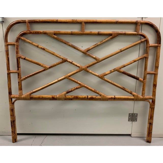 Bent Bamboo Full Size Headboard For Sale - Image 13 of 13