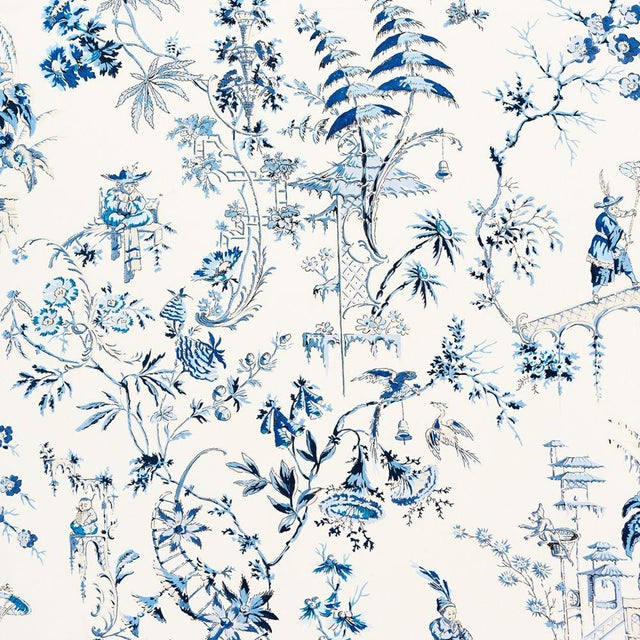 Transitional Scalamandre Nanjing Fabric Sample For Sale - Image 3 of 3