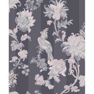 Cole & Son Zerzura Wallpaper Roll - Slate Grey & Blush Pink For Sale