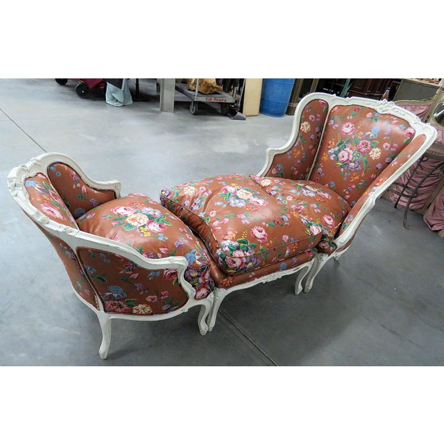 Louis XV Early 20th Century Vintage Louis XV Style Chaise- 3 Piece For Sale - Image 3 of 13
