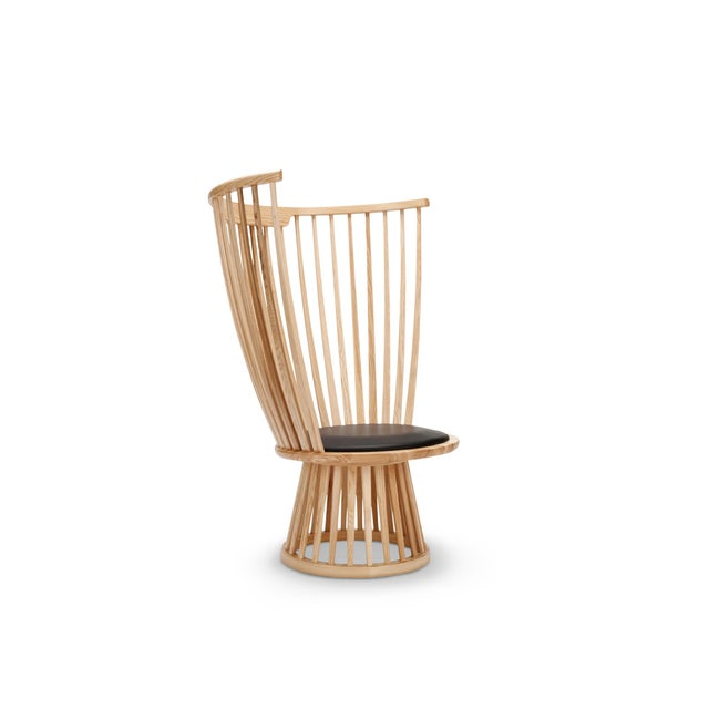 Contemporary Tom Dixon Fan Chair in Natural For Sale - Image 3 of 7