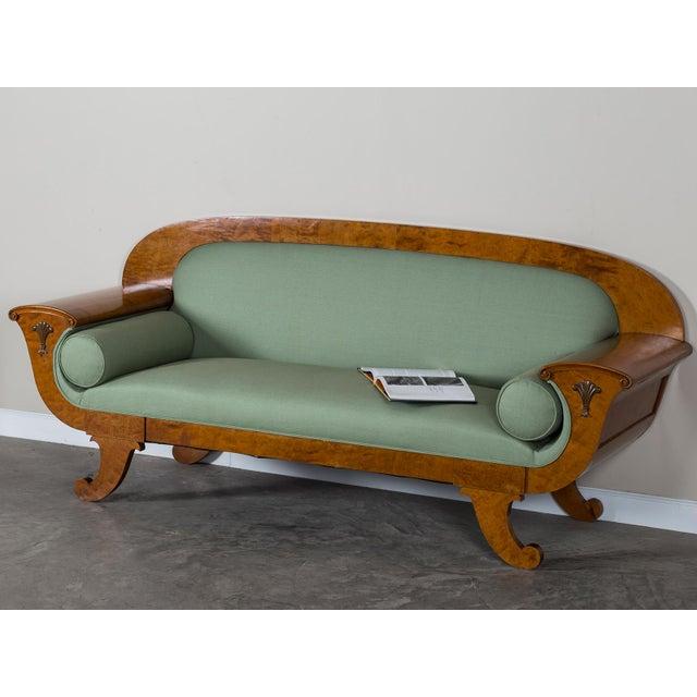 1920s Swedish Grace Biedermeier Satinwood Sofa For Sale - Image 10 of 11
