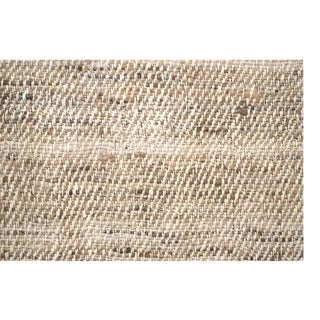 Silk Tweed Hand Spun Hand Woven Beige Fabric Fragment For Sale