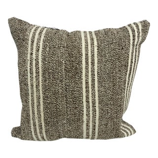 Turkish Striped Patterned Sofa Kilim Pillow Cover For Sale