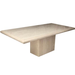 Retro Travertine Dining Table