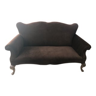 Bernhardt Brown Velvet Custom Sofa For Sale