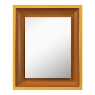 Small Rectangular Floating Mirror in Mayan Gold / Saddle Tan - Jeffrey Bilhuber for The Lacquer Company For Sale