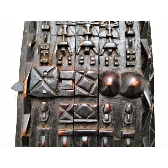 Early 20th Century African Carved Granary Door From Africa - Mali For Sale - Image 4 of 11