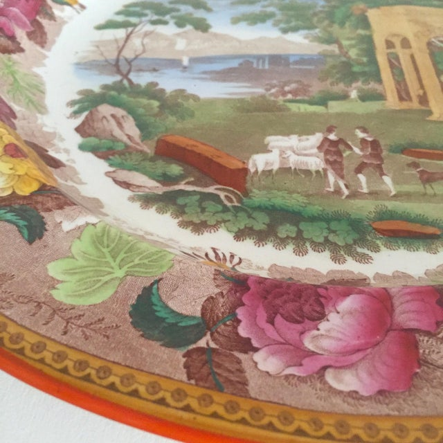 Antique Wedgwood Transferware Neoclassical Floral Ceramic Plate For Sale - Image 9 of 11