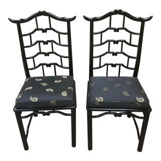 Mid Century/Hollywood Regency Chairs-James Mont for Century Furniture- A Pair For Sale