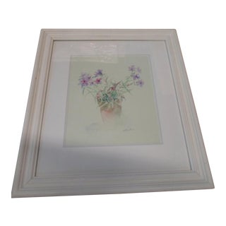 Reproduction Floral Watercolor Print For Sale
