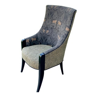 1990s Vintage Animal Print Occasional Chair For Sale