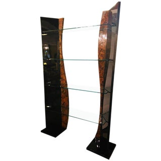 An Enrique Garcel Style Four Tier Etagere in Art Deco or Hollywood Regency Style