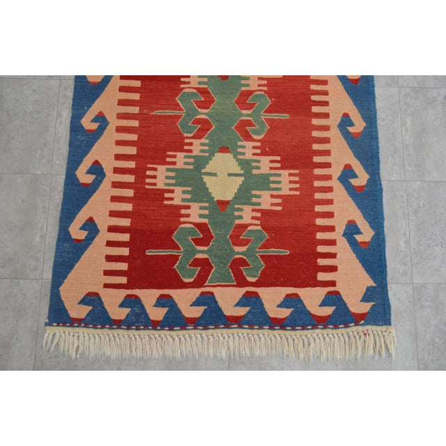 "New Turkish Hand Woven Oushak Rug - 2'11"" X 3'10"" - Image 5 of 6"
