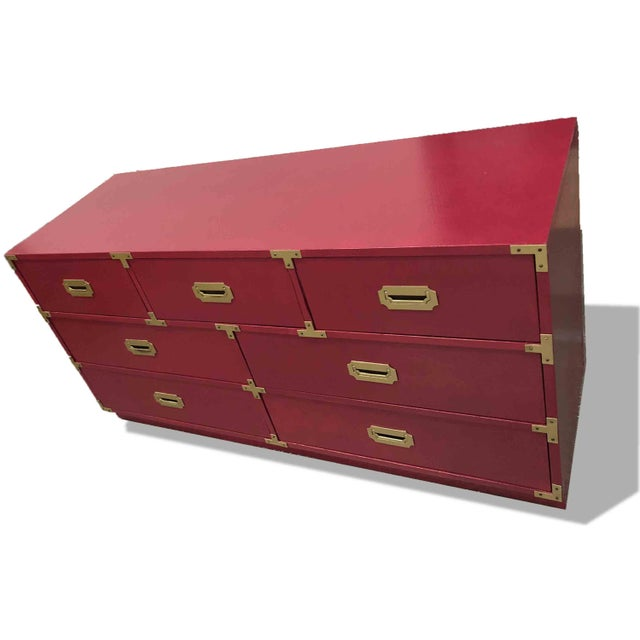 Campaign 1960s Campaign Chest by Bernhardt For Sale - Image 3 of 8