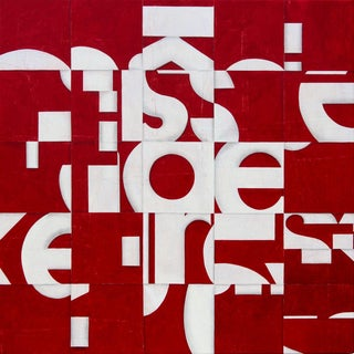 Acrylic Over Paper on Birch Panel Titled Pdp706 For Sale