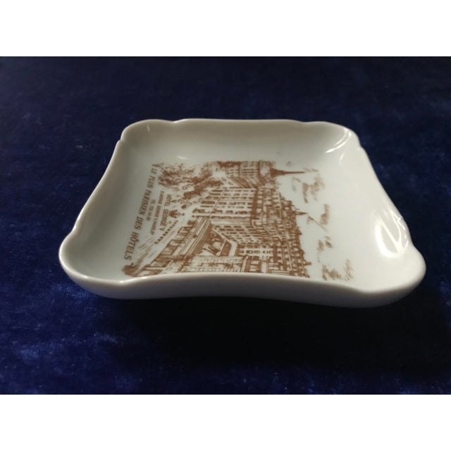 1950s Vintage Hotel George V Bonbon Pillivuyt Ceramic Trinket Soap Dish For Sale - Image 5 of 8