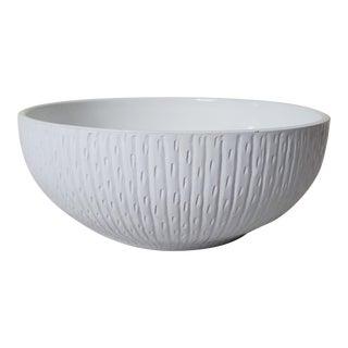 Late 20th Century White Ceramic Decorative Bowl For Sale