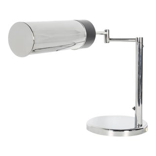 Mid-Century Modern Chrome Desk Lamp by Nessen Studios For Sale