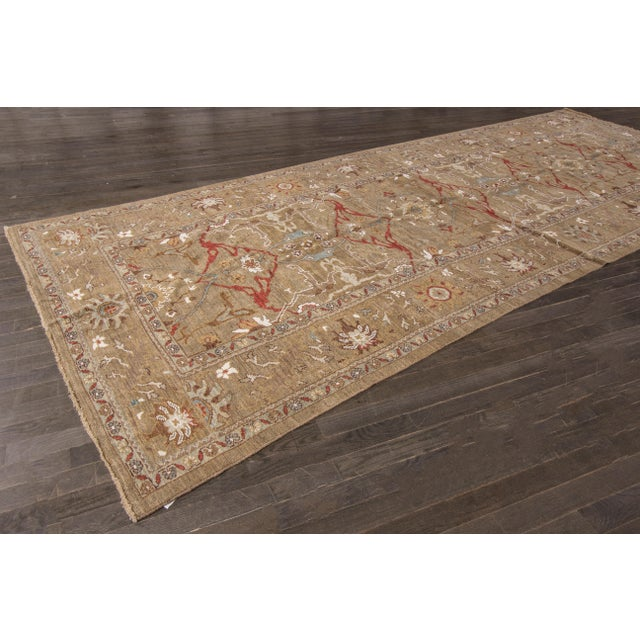 "Persian Sultanabad Rug - 6'4"" x 16'5"" - Image 7 of 10"