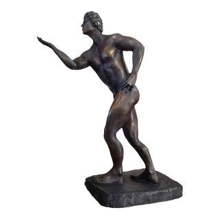 Bronze From Live Model Adan Nude Man For Sale