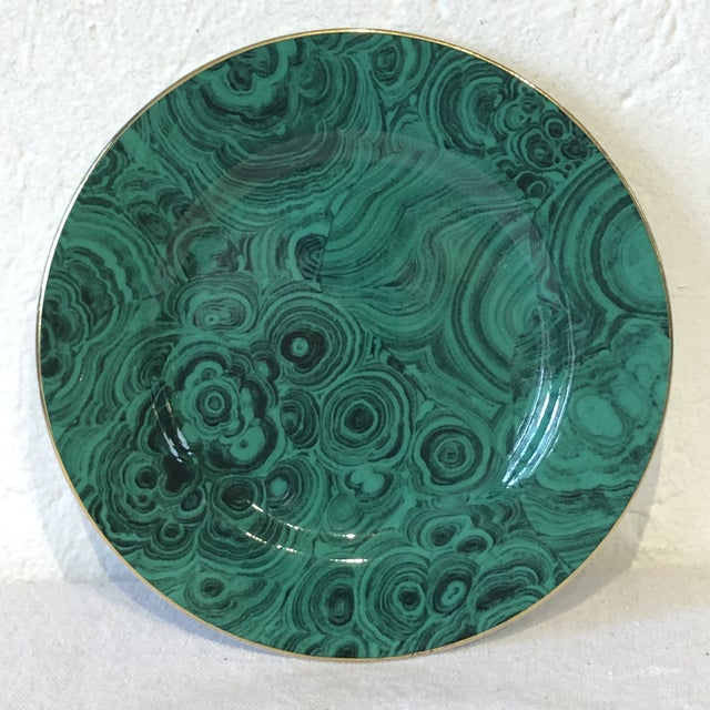 Green Faux Malachite Small Plates - Set of 6 For Sale - Image 4 of 8