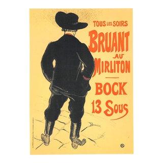 Bruant Au Mirliton, Toulouse-Lautrec, 1951, Chromolithograph For Sale