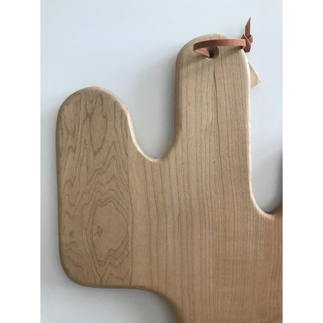 Vintage Maple Wood Cactus Shaped Cutting Board For Sale - Image 9 of 12