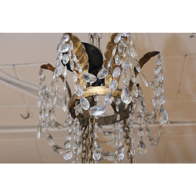 Metal Large-Scale Neoclassical Chandelier For Sale - Image 7 of 13