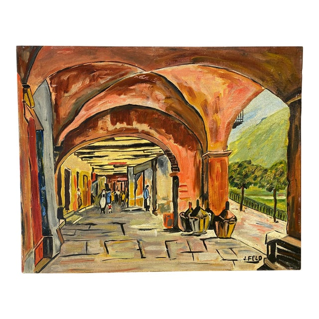 Market Scene Painting For Sale
