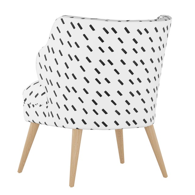 Contemporary Modern Chair in Charcoal Dash White Oga For Sale - Image 3 of 7