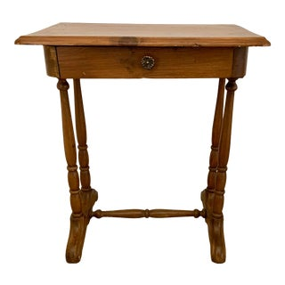 Antique Rustic Side Table For Sale