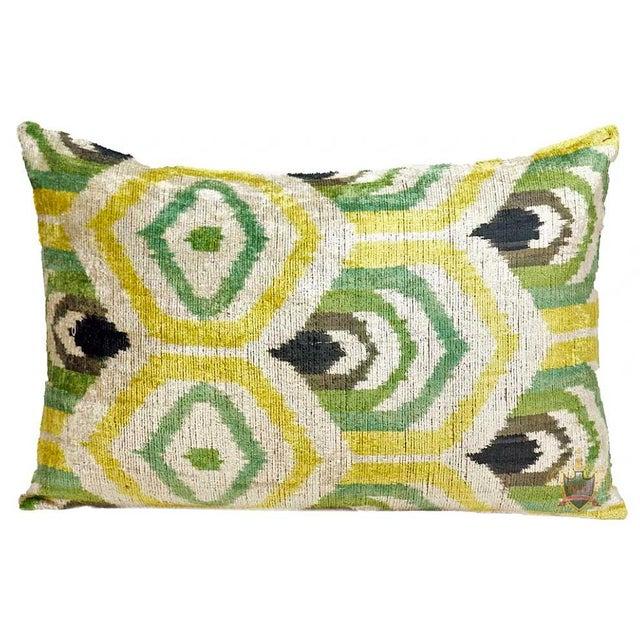 Clarendon Silk Velvet Designer Lumbar Pillow For Sale - Image 4 of 4
