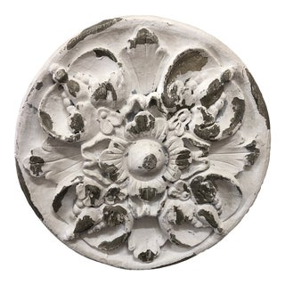 Shabby Chic Architectural Plaster Medallion For Sale