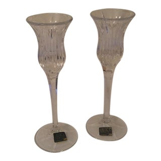Mikasa Icicles Candleholders - A Pair For Sale