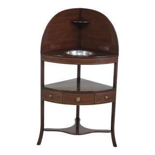 Kittinger Inlaid Mahogany Corner Washstand