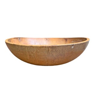 19th Century American Turned Dough Bowl For Sale