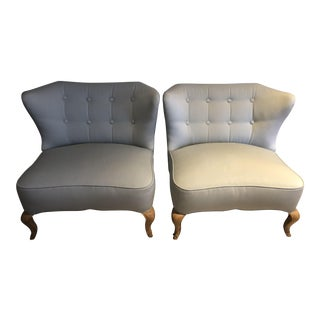 Mid-Century Modified Klismos Chairs - A Pair For Sale