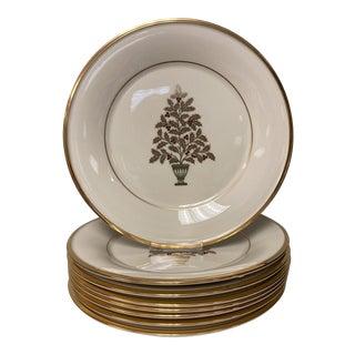 Lenox Eternal Christmas Tree Salad Lunch Plates Set of 8 For Sale