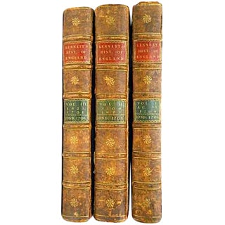 Early 18th Century Antique Kennett's Complete History of England: Elephant Folios Books - Set of 3 For Sale
